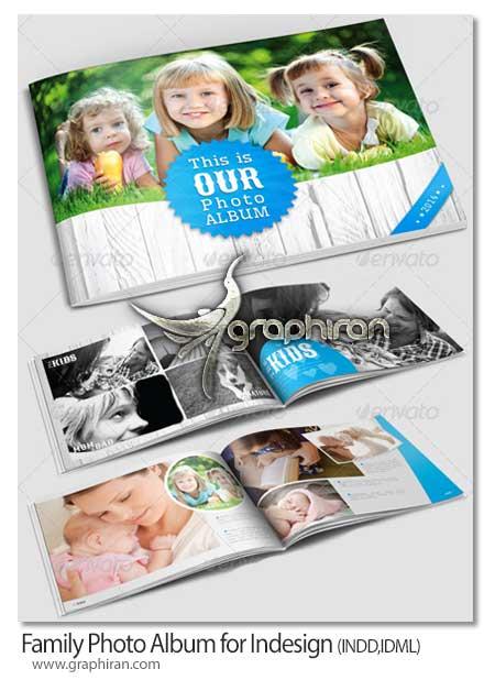 Family Photo Album for Indesign دانلود قالب لایه باز آلبوم عکس خانوادگی برای InDesign