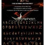 تصاویر حروف و المان های گرافیکی آتشین Fire Alphabets & Abstracts