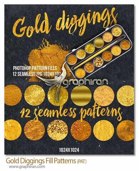 پترن طلایی یکپارچه فتوشاپ