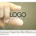پروژه جدید افتر افکت اشاره دست Hand Gestures AE Project