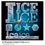 استایل یخ برای ایلوستریتور Ice Illustrator Graphic Style