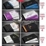 مجموعه ۶ قالب کارت ویزیت لایه باز با طراحی مدرن – شماره ۳۲۹