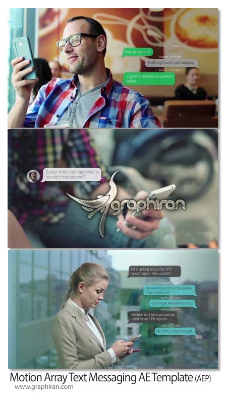 Motion Array Text Messaging After Effects Template دانلود پروژه افتر افکت ارسال پیامک Text Messaging AE Template