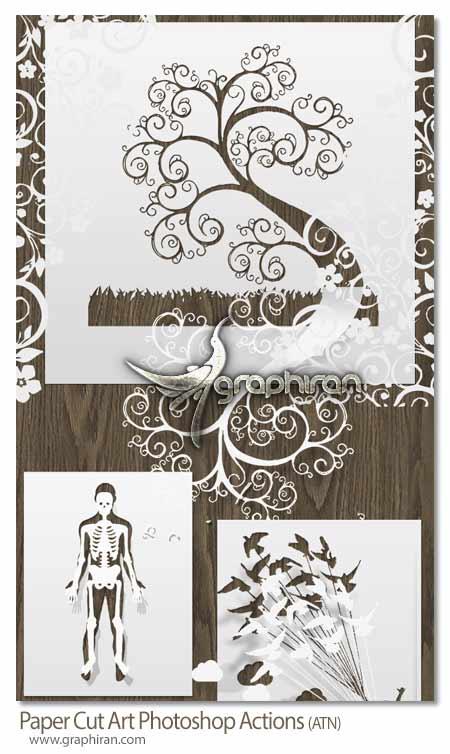 اکشن فتوشاپ هنر برش کاغذ