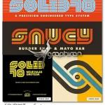 فونت زیبا و جذاب SOLID70 مناسب طراحی لوگو و ساخت تایپوگرافی