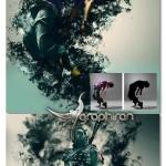 اکشن فتوشاپ ایجاد دود ترسناک در عکس Smoke Photoshop Action