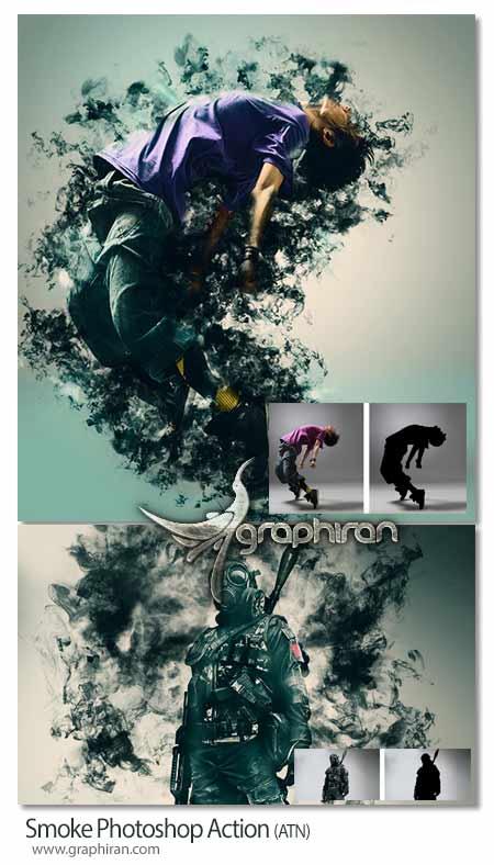 اکشن فتوشاپ ایجاد دود در عکس