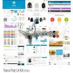 طرح لایه باز رابط کاربری سایت سبک فلت Tatra Flat Ui Kit