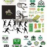 دانلود تصاویر وکتور المان های ورزش تنیس از ShutterStock