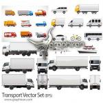 دانلود مجموعه تصاویر وکتور وسایل حمل و نقل Transport Vector