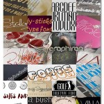 دانلود بیش از ۳۰ فونت خلاقانه انگلیسی محصول CreativeMarket
