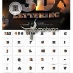 دانلود مجموعه حروف آهنی سه بعدی ۳D Metal Lettering Pack
