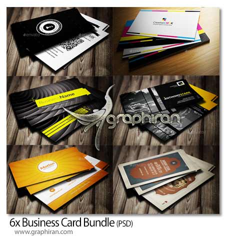 6x Business Card Bundle