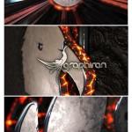 پروژه افترافکت نمایش لوگو در مواد مذاب آتشفشان + فیلم آموزشی