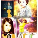 اکشن فتوشاپ افکت انفجار بوکه Bookeh Explosion Photoshop Action