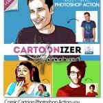 اکشن فتوشاپ افکت کارتونی کمیک Comic Cartoon Photoshop Action