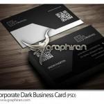 دانلود رایگان کارت ویزیت تجاری تیره رنگ PSD – شماره ۳۳۲
