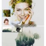 اکشن فتوشاپ ترکیب تصاویر Double Exposure Photoshop Action