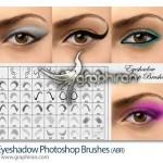 دانلود براش فتوشاپ انواع سایه چشم Eyeshadow Photoshop Brush