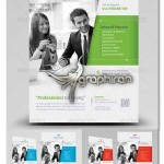 طرح لایه باز تراکت تبلیغاتی تجاری Financial Flyer Template