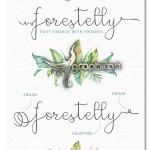 دانلود فونت عاشقانه و رمانتیک Forestelly Wedding Font