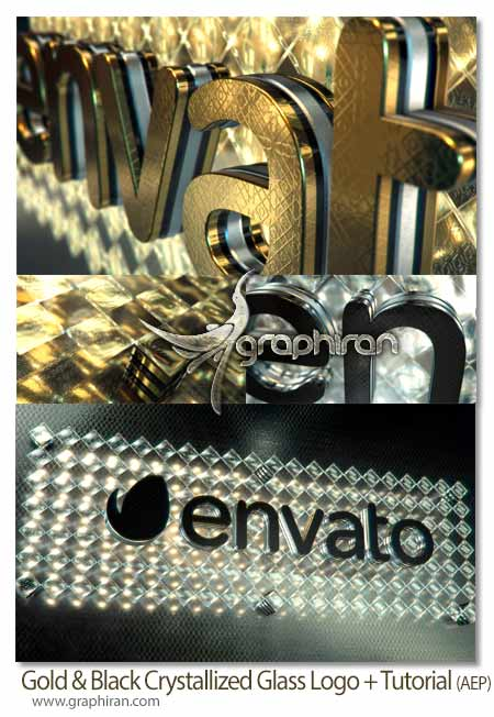 Gold & Black Crystallized Glass Logo Reveal