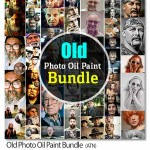 Old Photo Oil Paint Bundle 150x150 اکشن فتوشاپ ایجاد استایل نقاشی Paint Styles Photoshop Action