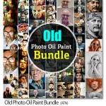 مجموعه اکشن های فتوشاپ افکت نقاشی Old Photo Oil Paint Bundle