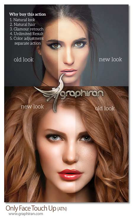 Only Face Touch Up دانلود اکشن فتوشاپ روتوش اختصاصی چهره Only Face Touch Up