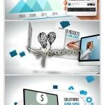 پروژه افترافکت تیزر تبلیغاتی وبسایت و نرم افزار + فیلم آموزش