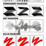 مجموعه براش های ماژیک فتوشاپ Real Markers For Photoshop