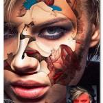 اکشن فتوشاپ افکت های انتزاعی روی صورت Seveso Photoshop Action