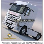 مدل آماده تری دی مکس کامیون New Mercedes Actros Space Cab