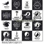 دانلود مجموعه لوگوهای وکتور آرایشگاه زنانه و سالن زیبایی
