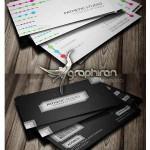 دانلود ۲ طرح کارت ویزیت سفید و مشکی PSD لایه باز – شماره ۳۳۴