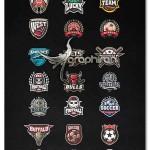 دانلود مجموعه ۴۲ لوگوی ورزشی لایه باز Sport logos MEGA BUNDLE