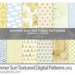 مجموعه ۱۲ پترن تکسچرهای تابستانی Summer Sun Textured Patterns