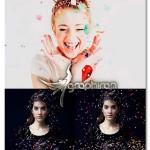 تصاویر کاغذ رنگی پخش شده برای فتوشاپ Confetti Photoshop Overlays