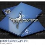 طرح آماده و لایه باز کارت ویزیت ساده آبی رنگ – شماره ۳۳۹