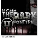 دانلود فونت ترسناک و وحشت آور The Dark Font