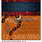 فونت انگلیسی دوخت زنجیری گلدوزی Embroidery Chainstitch