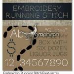 فونت انگلیسی سبک دوخت گلدوزی Embroidery Running Stitch