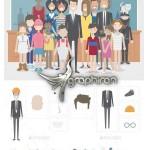 کیت ساخت کاراکترهای کارتونی Pixity Character Creator Kit
