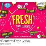 پروژه افتر افکت شکل های هندسی متحرک Shape Elements Fresh