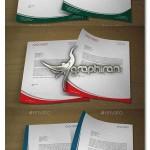 دانلود طرح آماده و لایه باز سربرگ اداری Corporate Letterhead