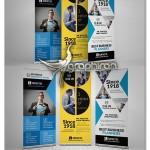دانلود مجموعه ۳ طرح بنر استند تبلیغاتی PSD لایه باز