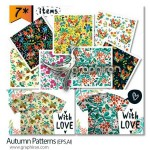 دانلود وکتور پترن های پاییزی یکپارچه Autumn Patterns Set