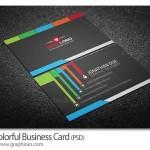 طرح وکتور لایه باز کارت ویزیت با طراحی فلت رنگی – شماره ۳۴۲