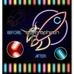 دانلود مجموعه براش های نئون برای ایلوستریتور Neon Brushes