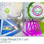 پروژه جدید افترافکت نمایش شکل های لوگو Shape Logo Reveal 5 In 1